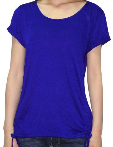 Femmes Athletic Yoga / Course à manches courtes T-Shirt Royal Blau