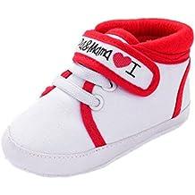 b0234227392a5 Scarpe Neonato Unisex in Pelle Morbida - Ricamo a Forma di Cuore - Sneaker  Antiscivolo