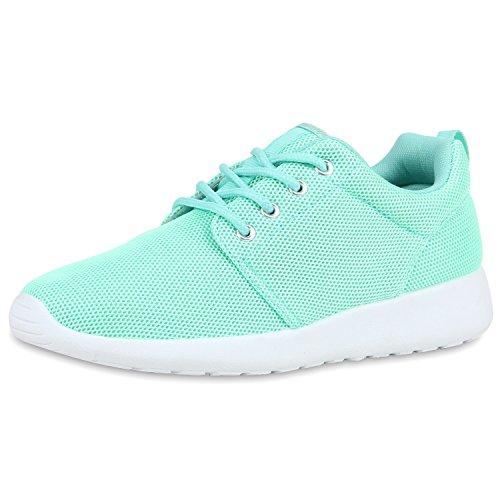 SCARPE VITA Damen Sportschuhe Trendfarben Runners Sneakers Laufschuhe 160471 Hellgrün 38