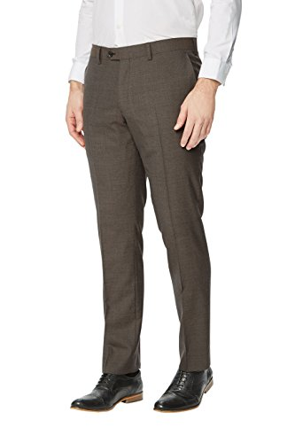 next Pantalon de costume texturé Signature Coupe Slim Homme Taupe