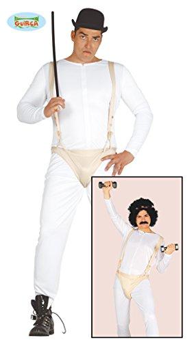 n-Kostüm mechanischer Orangenkostüm, Weiß und Beige, Large, 84457 ()