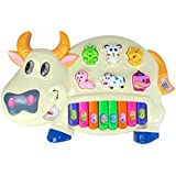Musical Piano With 3 Modes Animal Sounds, Flashing Lights & Music (Cow Piano)