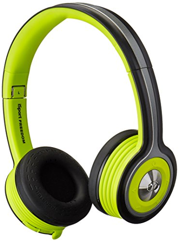 Monster iSport Freedom Wireless Bluetooth On Ear Headphones - Green