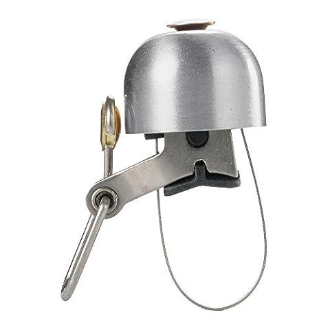 Lmeno Retro Fahrradklingel Fahrradglocke Fahrrad Glocke Klingel Lenker Bike Bell Ring aus Messing Kappe Form Design (Schwarz/Messing/Gold/Silber)