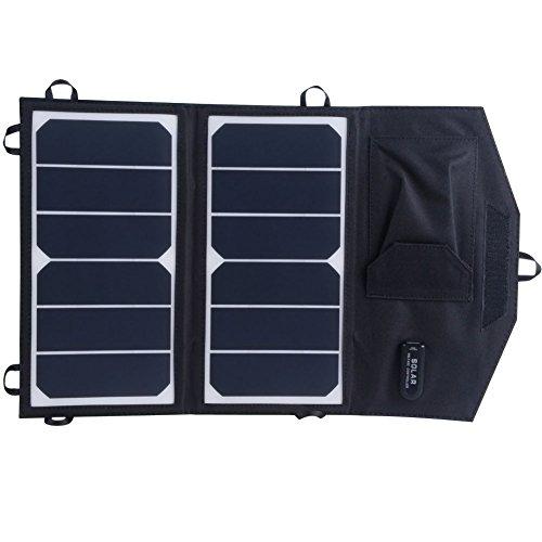 KINGSOLAR 14W 5V USB Solar ladegerät Solar panel Charger für iPhone 6s / 6 / 6s Plus / 6 Plus, iPad Air 2 / mini 3, Galaxy S6 / S6 Edge und weitere (Hang-panels)