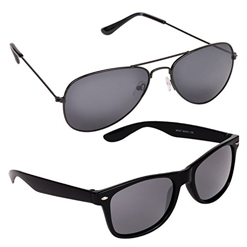 Criba Pack of Wayfarer and Aviator Unisex Sunglass in Low Price