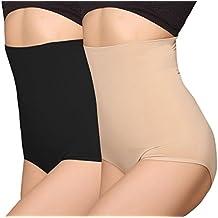 7dd17718536 iLoveSIA® Femme Culotte Gainante Taille Haute Panty Minceur avec Armature  Body Gaine Amincissante Ventre Plat