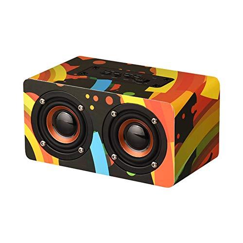 WQGNMJZ D50 Farbe Hölzerne Drahtlose Bluetooth-Lautsprecher Geschenk Custom Card Handy Home Kleine Stereo-Mode Cool Outdoor-Lautsprecher,Burst