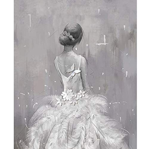 L22LW Wandbild Moderne Abstrakte Tapeten Hyun Aus Tv Hintergrund Tapete Kleid Hochzeit Shop Personalisierte Kunst Gemälde, 520 cm * 290 cm (H)