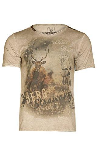 MarJo Trachten T-Shirt M69 - Berg Strawanza brau, 2XL - 5