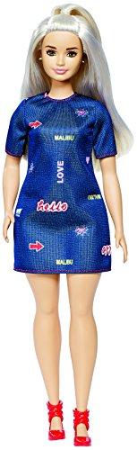 Mattel Barbie DYY93 Fashionistas Puppe im Platinum Pop Style - Barbie Convention