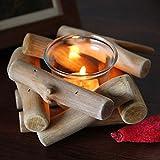 XHONG Teelichthalter aus Holz, natürlich, handgefertigt, für Festivals, für Geschenke, Basteln, Ornament, Heimdekoration, Kerzenhalter, Hochzeitszubehör