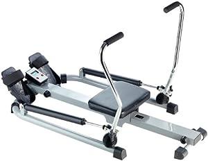 PEARL sports Ruderergometer: Rudergerät mit Trainingscomputer, Schlagzähler,...