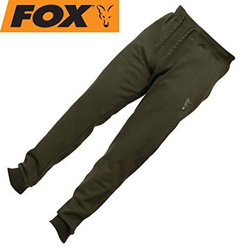 Fox Collection Green Silver Jogger - Angelhose, Hose für Angler, Jogginghose für Karpfenangler, Anglerhose, Größe:L -