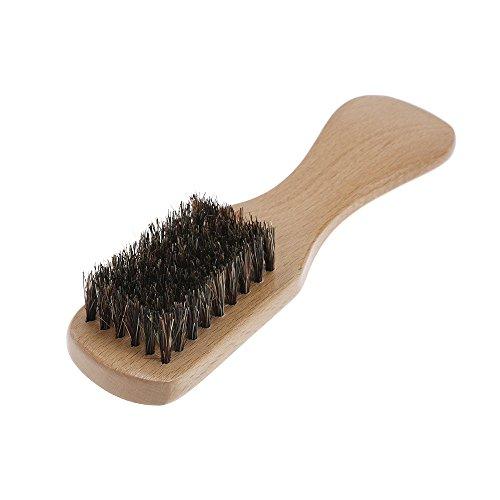 Anself Herren Bart Bürste Schnurrbart Rasier Kamm Haar-Bürste Gesicht Pinsel Buche langer Griff Haarbürste Palm