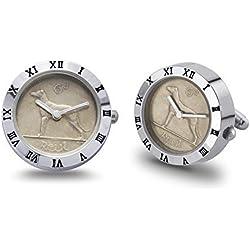 Irish Sixpence Coin Watch Pair of Cufflinks (2 Watches)