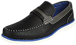 Spunk Mens Black Synthetic Leather Loafers - 10 UK