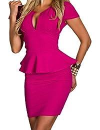 Ovender® Vestiti Eleganti Corti Mini da Donna Ragazza Abito Vestito Donne  Ragazze Impero Formale Elegante Corto per… 3bb2fa4e331