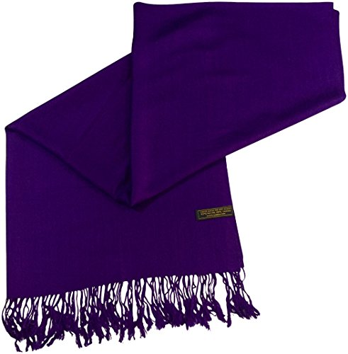 CJ Apparel Purple Solid Colour Design Nepalese Tassels Shawl Scarf Wrap  Pashmina Seconds NEW f57b87c0d4ea6