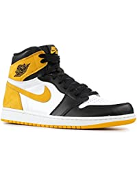 sports shoes 3d0c2 a2b4a Nike Air Jordan 1 Retro High Og - Summit White Yellow Ochre-blac -  Basketball…
