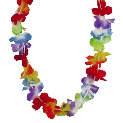Hawaii-Ketten HULA FLOWER rainbow - 12er Set