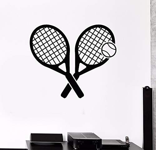 Wandtattoo Tennis Rakete Wandaufkleber Sport Spiel Wohnkultur Poster Fashional Art Vinyl Adesivo Murali 57X50 cm