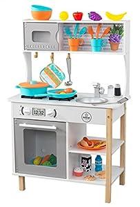 KidKraft- Cocina de juguete de madera, para niños, con accesorios para juegos de dramatización incluidos All Time , Color Multicolor (53370)