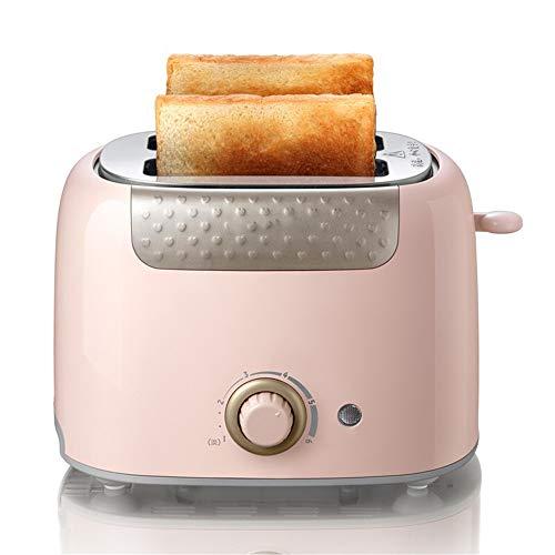 DiaoZhaTian 650w Home Kitchen Toaster, 2 Stück verstellbare Frühstücksbrotmaschine aus Edelstahl, herausnehmbares Brotkrümel-Tablett, pink