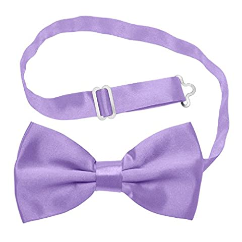 Knight - Premium Bow-Tie, Adjustable Pre-tied Bow Tie - Various Colours Available (Lilac)