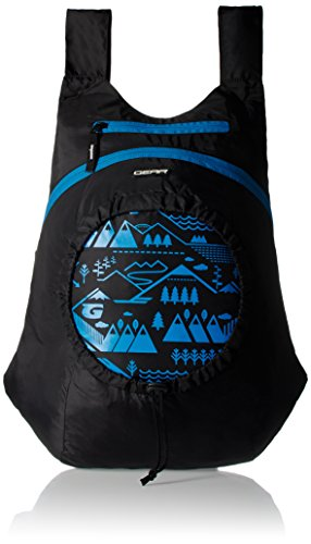 GEAR Black and Blue Kids Backpack (3-5 years previous) Image 1