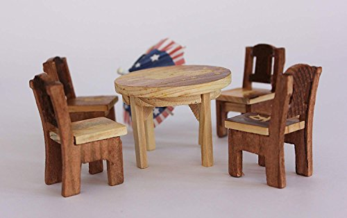 Craft Expertise Wooden Miniature Chair and Table Set for Kids/Toy (Only for Kids)