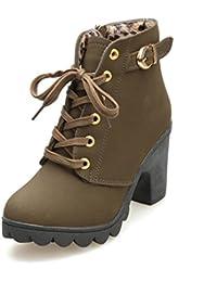 Botas de Tacón,Culater Mujer Zapatos Altos Talones