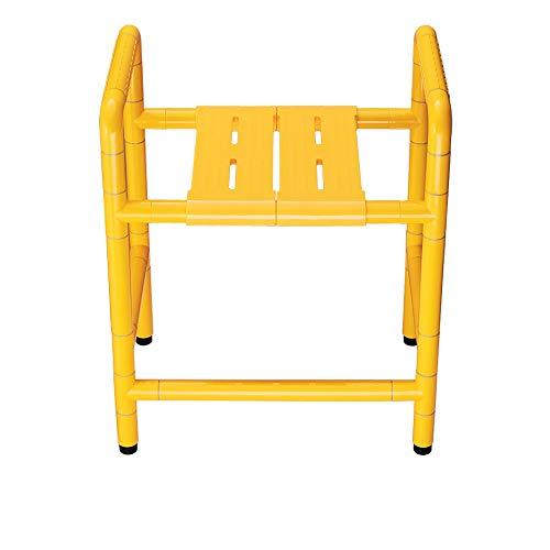 HSRG Barrierefreiheit Sitzen Baden Dual-Use-Hocker Stuhl Stuhl Edelstahl Antibakterielle Nylon Elderly Behinderten-Badestuhl,Yellow