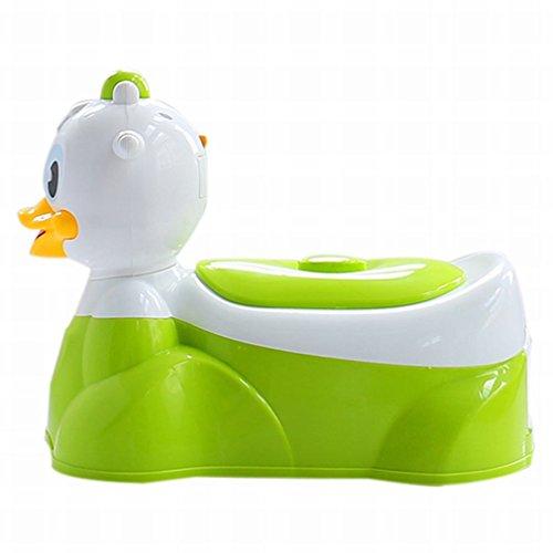 HM Riemenscheibe mit Musik Pp Plastik Baby Baby Toilette Kinder 'S Toilette Haus,Grün