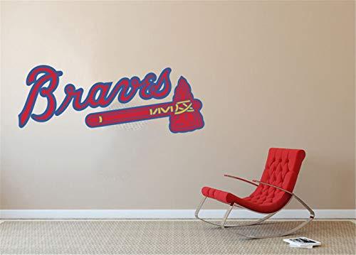 Wandtattoo Atlanta Braves MLB Logo Baseball Team Zeichen Wand Dekor Team Wall Decal Dekor für Home Laptop Sport