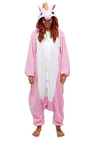 Deguisement Combinaison Pijama - Chicone Licorne Pyjama Adulte Enfant Unisexe Animaux Cosplay Costume Kigurumi Halloween Noel Party Soirée de Déguisement, Licorne rose, M (Height 160-169cm)