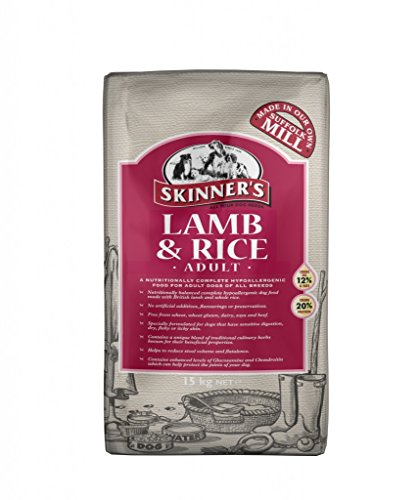 Skinner's Lamb & Rice is a nutritionally complete hypoallergenic food (2.5kg)