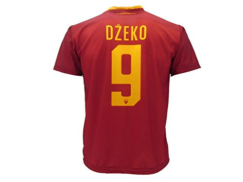 Camiseta de fútbol para niños o adolescentes, Roma, Dzeko, 9, réplica autorizada, 2017-20108, Größe 4 Jahre