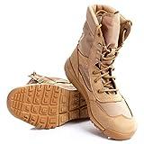 VAN+ Uomini tattico Stivali Scarpe di Cuoio Durevole Desert Combat Scarpe Stivali Outdoor Militari Police Training Scarpe Stivali Anti-Slip,Sandcolor,44