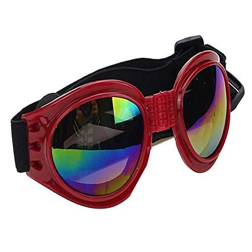 Xiton Mode Stil Haustier Sonnenbrille Winddicht Hund Schutzbrille UV beständig Brillen für große Haustier rot