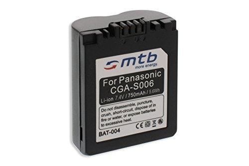 Batterie CGA/CGR-S006, DMW-BMA7 pour Panasonic Lumix DMC-FZ7, FZ8, FZ18, FZ28