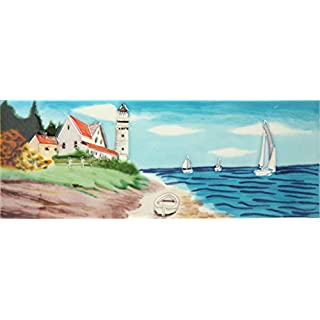 YH-Arts 6x16 Sailing, Multicolour, 40.6x15x0.9 cm