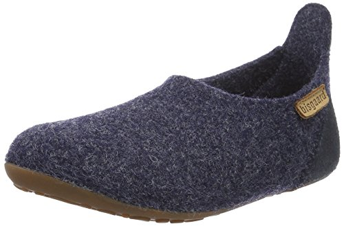 Bisgaard Unisex-Kinder Wool Basic Slipper, Blau (20 Blue), 30 EU -