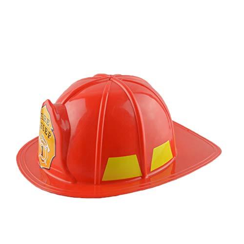 Yxczhis Sonnenhut Simulation Feuerwehrmann Chief Schutzhelm Feuerwehrmann Hut M¨¹TZE Kinder Spielzeug Party Supply, Rollenspiel Hut, dekorative Hut, langlebig und stilvoll