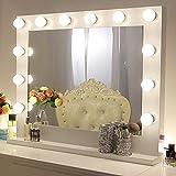 Chende Hollywood Espejo de Maquillaje con iluminación Ajustable para cosmético (80cm x 65cm,...