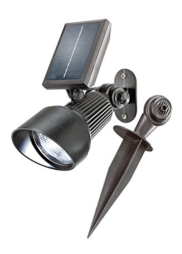 Solarstrahler Spotlight RGB 7 Lichtfarben zur Auswahl, Dauer oder Wechsellicht Außenbeleuchtung Solar Solarleuchte, esotec 102134