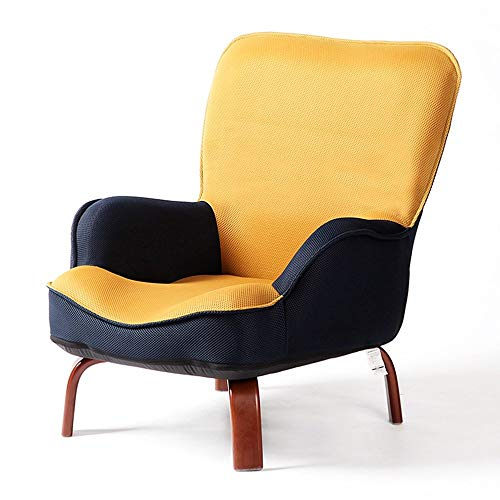 QTQZHH Sofa-Bett-Karikatur-Kind-Sofa-fauler reizender einzelner Stuhl-zufälliger kreativer Wäsche-Stuhl (Farbe: Gelb)