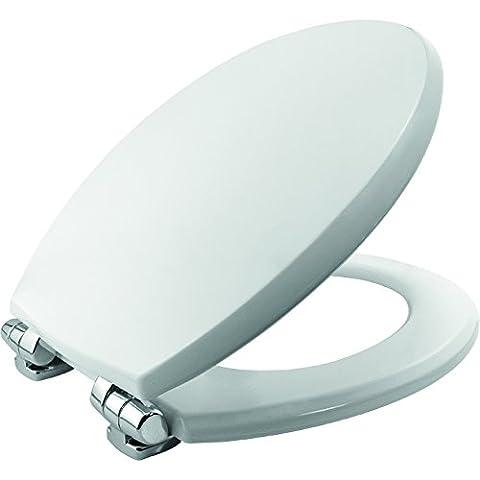 Denver STA-TITE Lunette Abattant WC universel avec fermeture ralentie, blanc