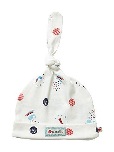 Piccalilly Bio-Baumwolle Rot und Blau Baby Jungen Matrose Punkt Druck Einzel Geknotete Mütze (Matrose Rote Hut)