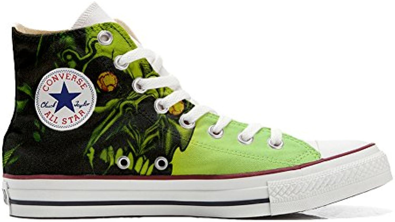 Schuhe Custom Converse All Star  Personalisierte Schuhe (Handwerk Produkt Customized) Schädel Horror